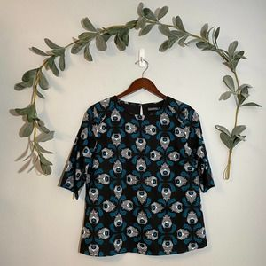 Sugarhill Boutique Feather Patterned Blouse